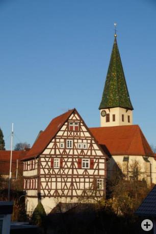 Kirche und Pfarrhaus Kusterdingen