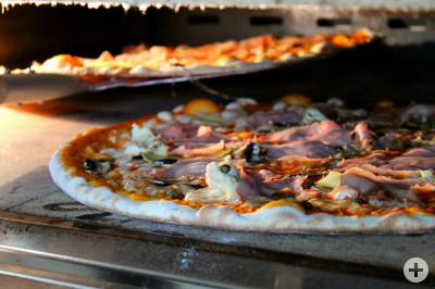 Wagenrad-Pizza